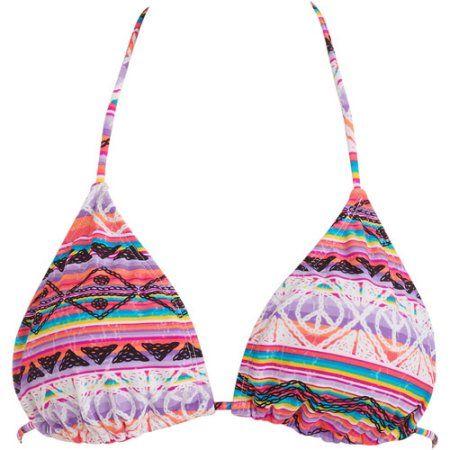 d0c48840431b0 Op Juniors Printed String Bikini Top