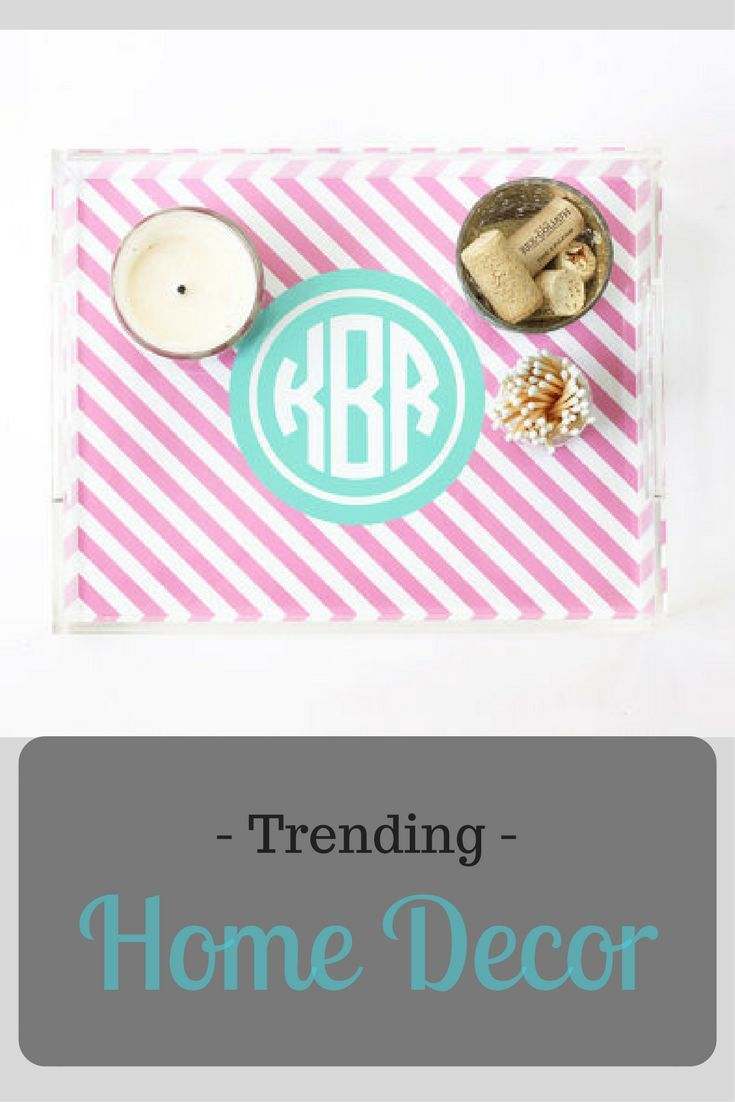 monogram tray personalized acrylic tray lucite serving trays coffee