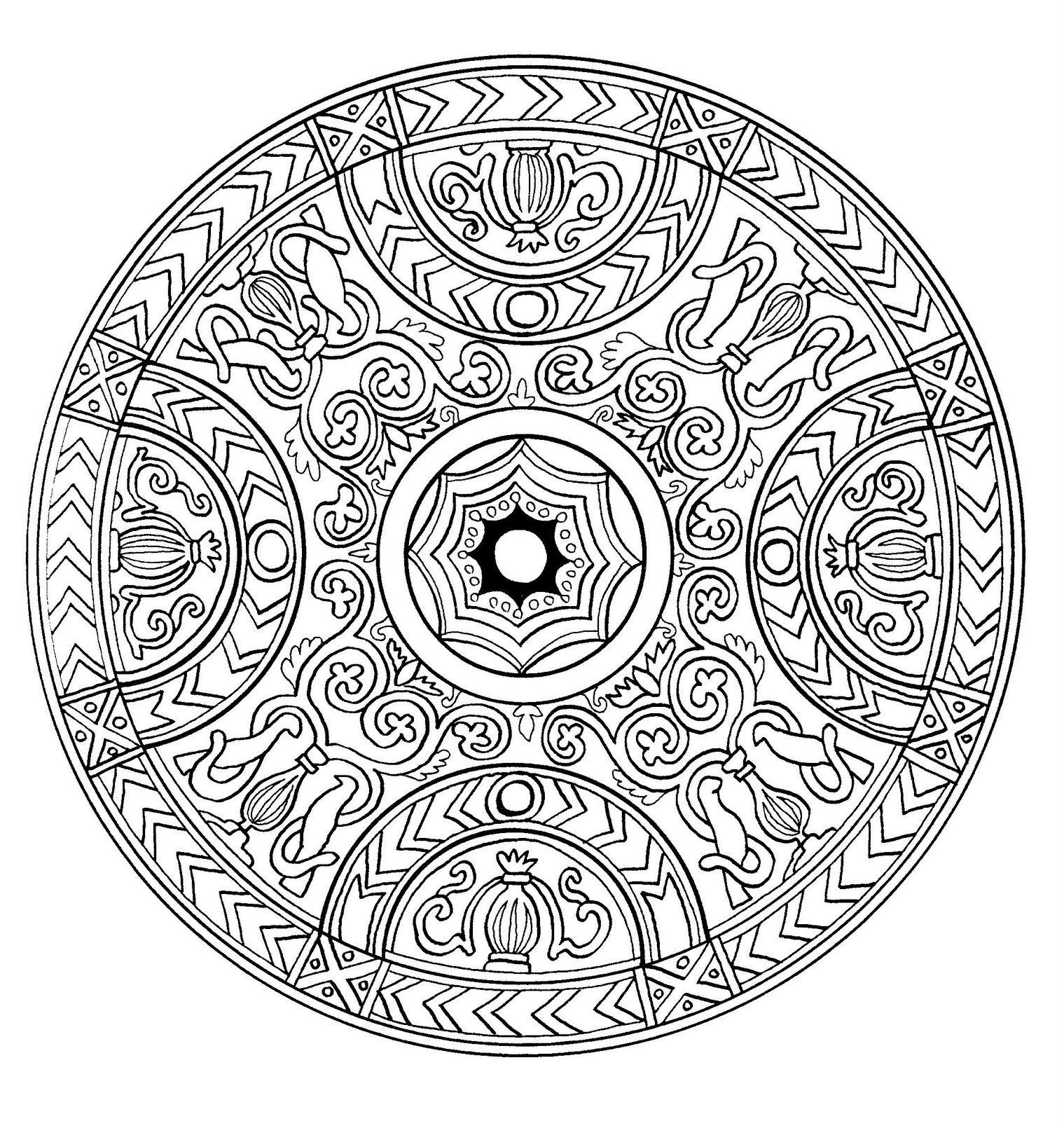 Free Mandalas page «mandala-to-color-zen-relax-free (14 ...