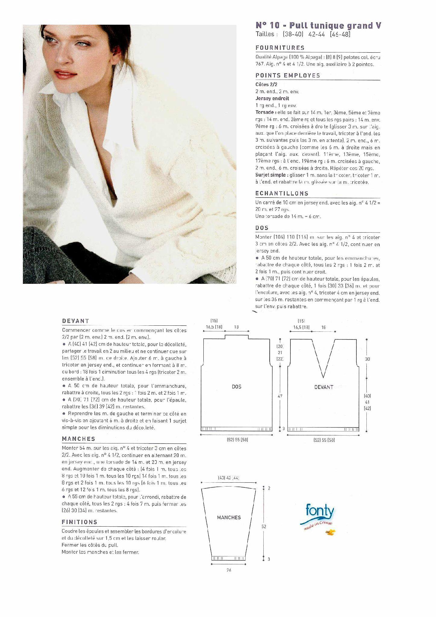 Modele tricot gratuit pull femme tunique alpaga   tricot   Pinterest 1510280ebca