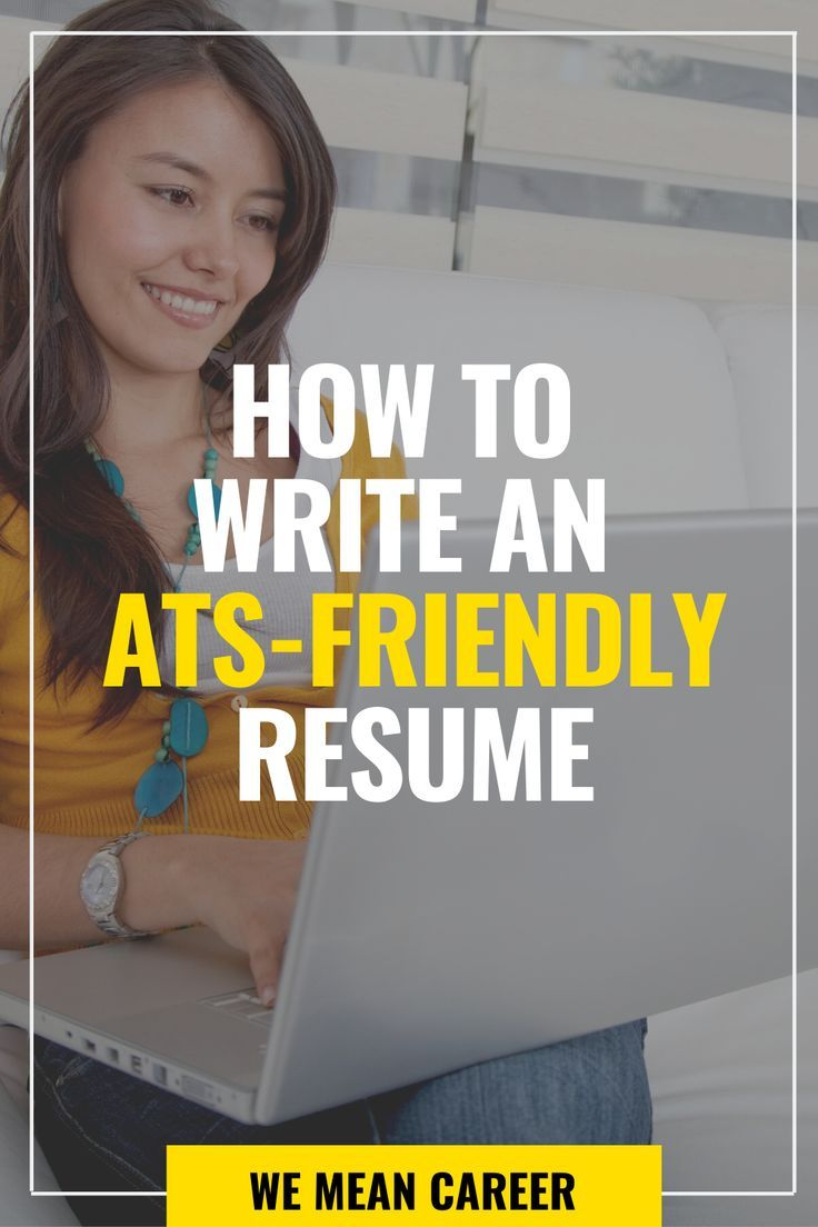 How to write an atsfriendly resume in 2020 resume