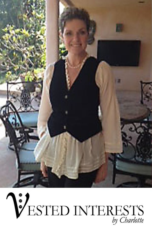 Veronica L., Santa Barbara, CA  Made-To-Order and Custom Made To Fit You  We believe that an exceptional wardrobe should be accessible to everyone.  Our vests are crafted specifically for you, based on your personal style, preferred fit, and vision.  Each vest is uniquely tailored and is a clear expression of who you are.   We have vests for Men, Women and available in Plus-sizes. www.vestsbycharlotte.com