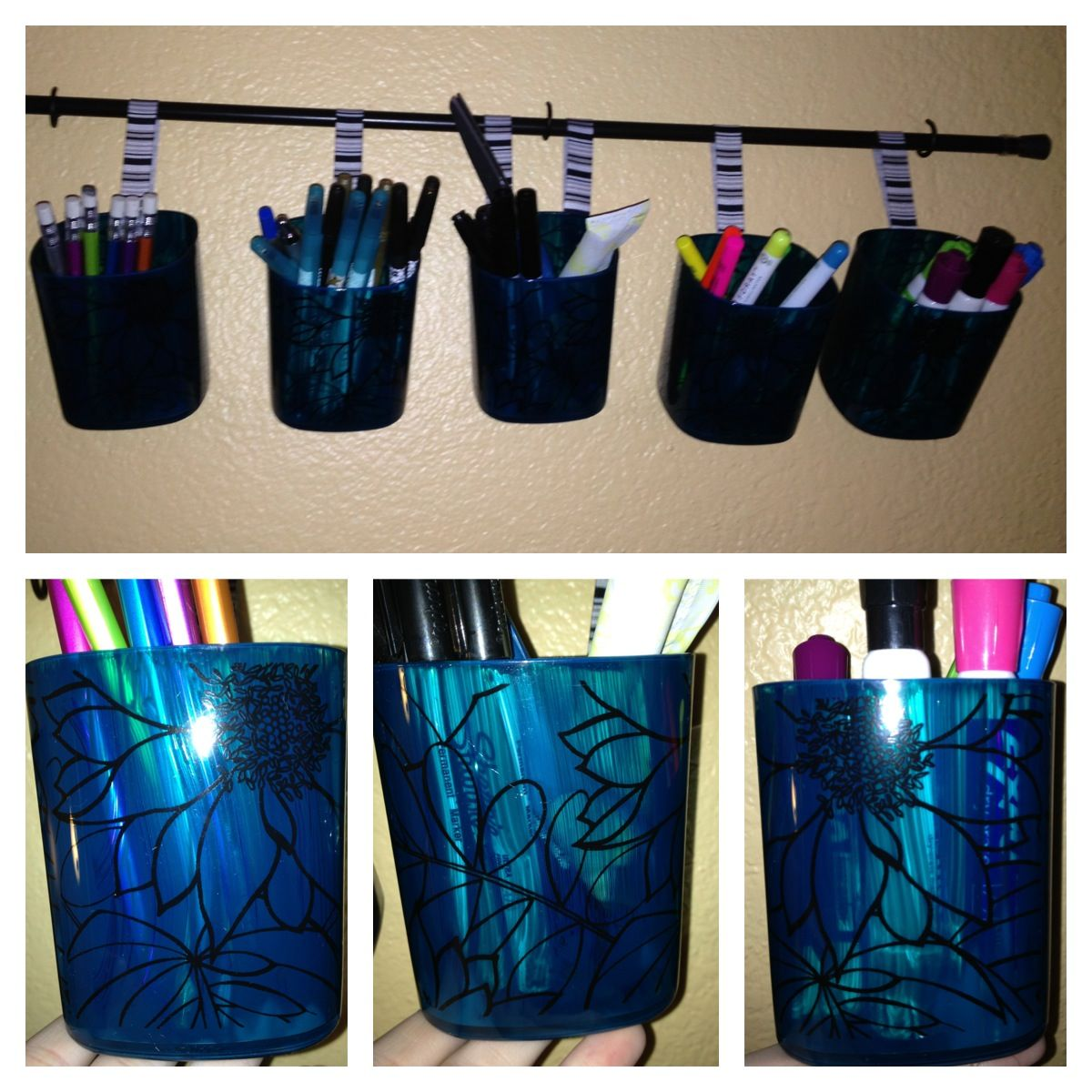 Diy Hanging Pencil Holder Got The Idea From Ikea And Got The