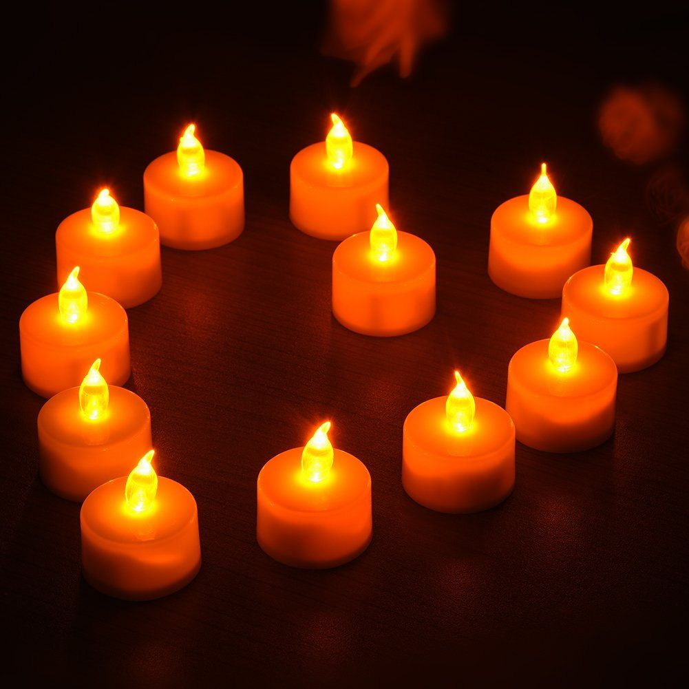Samber Led Flameless Candles Tea Lights Electric Christmas Candles Waterproof Led Candle Lights Led Bat Candle Night Led Tealight Candles Led Tea Light Candles