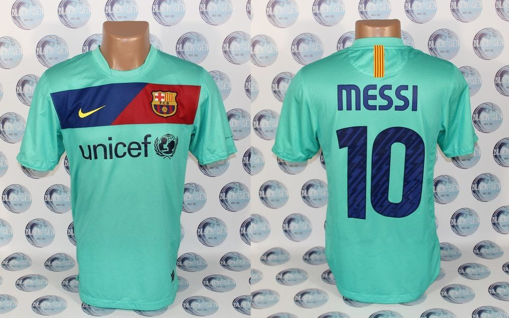 282daddef26 BARCELONA 2010 2011 #10 MESSI AWAY FOOTBALL SOCCER SHIRT JERSEY CAMISETA S # Nike #BARCELONA