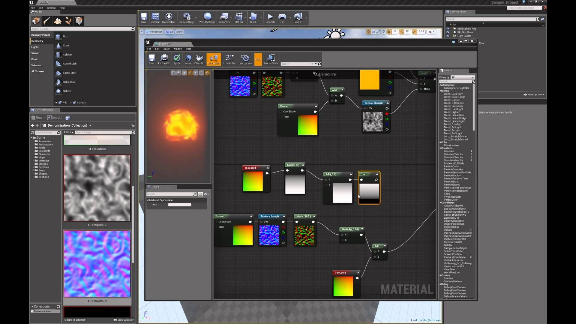 Fire Material in Unreal Engine 4 Unreal engine