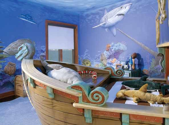 Lovely Beautiful Underwater Themed Bedroom Ideas Photos   Home Design .