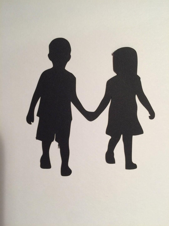 Картинки силуэты мальчика и девочки для детей