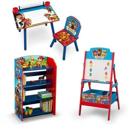 Paw Patrol Activity Furniture Toddler Kids Bedroom Art Desk Bookshelf Easel New DeltaChildren