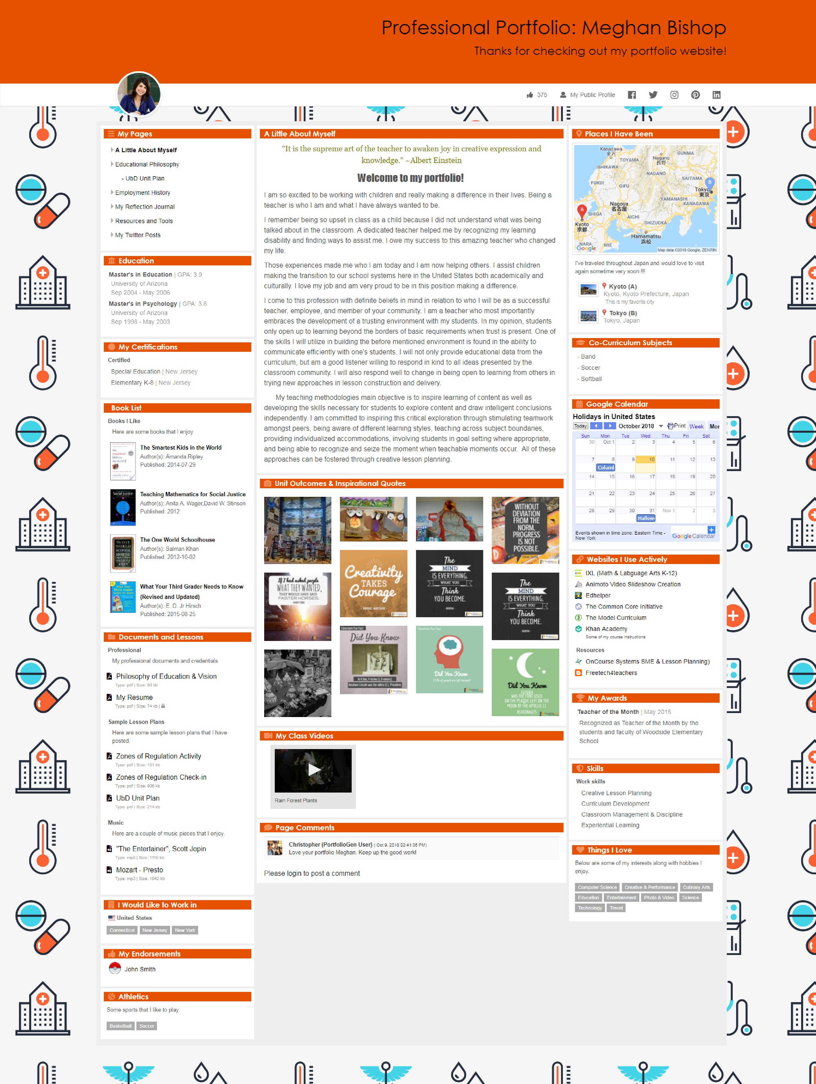 Professional Portfolio Meghan Bishop Portfolio Website Examples Portfolio Portfolio Website [ 3790 x 2854 Pixel ]