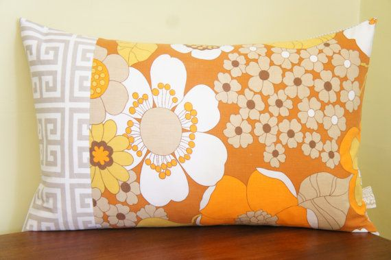 patchwork pillow case 16x24 lumbar greek key and by HAWThome, $32.00