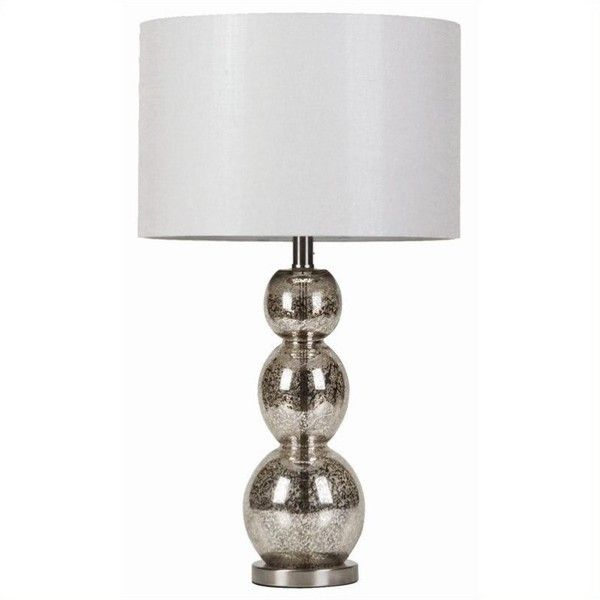 Coaster Metallic Finish Table Lamp (€105) ❤ liked on Polyvore featuring home, lighting, table lamps, silver frame, sphere lights, white lamp, drum lamp shade, white lights and sphere table lamp