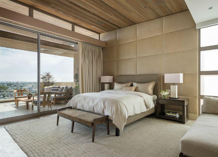 Espectaculares diseños para pared de cabecera de cama