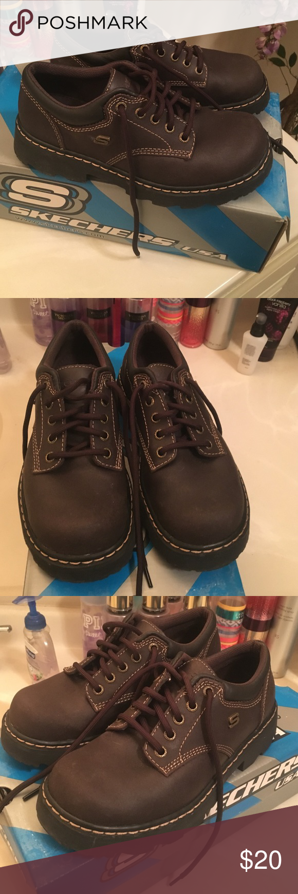 Skechers Chocolate Brown Casual Shoes