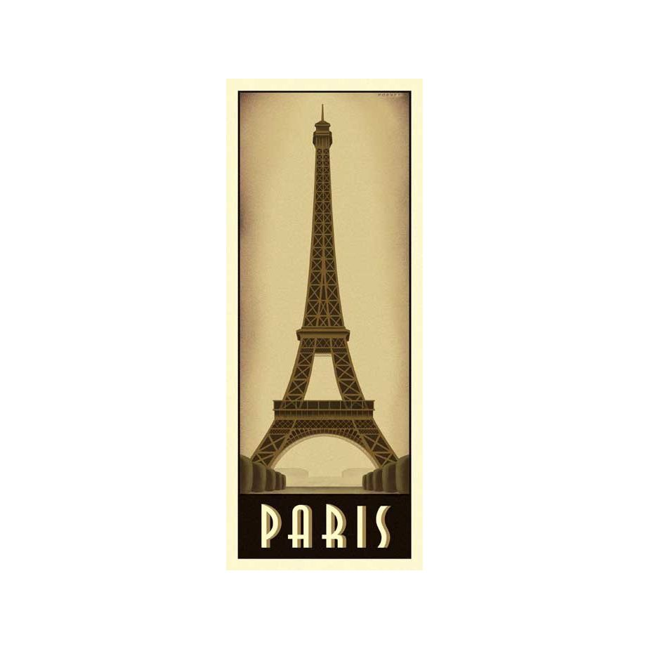 The sexiness of art deco at night meets the formidable Eiffel Tower ...