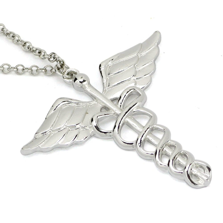 Ttkp Caduceus Angle Doctor Nurse Medical Symbol Jewelry Snake Wings