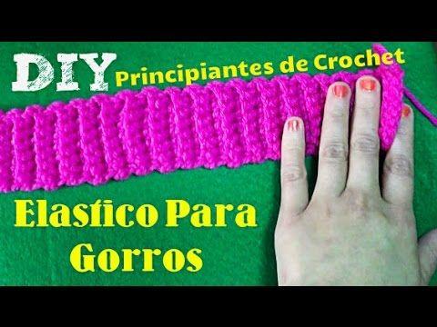 Como Aprender A Tejer Crochet Para Principiantes Aprende A Tejer Elastico Para Gorritos De Mariie Para