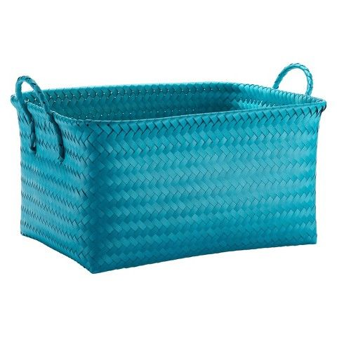 Room Essentials™ Polypropylene Decorative Basket -Teal Blue Opaque