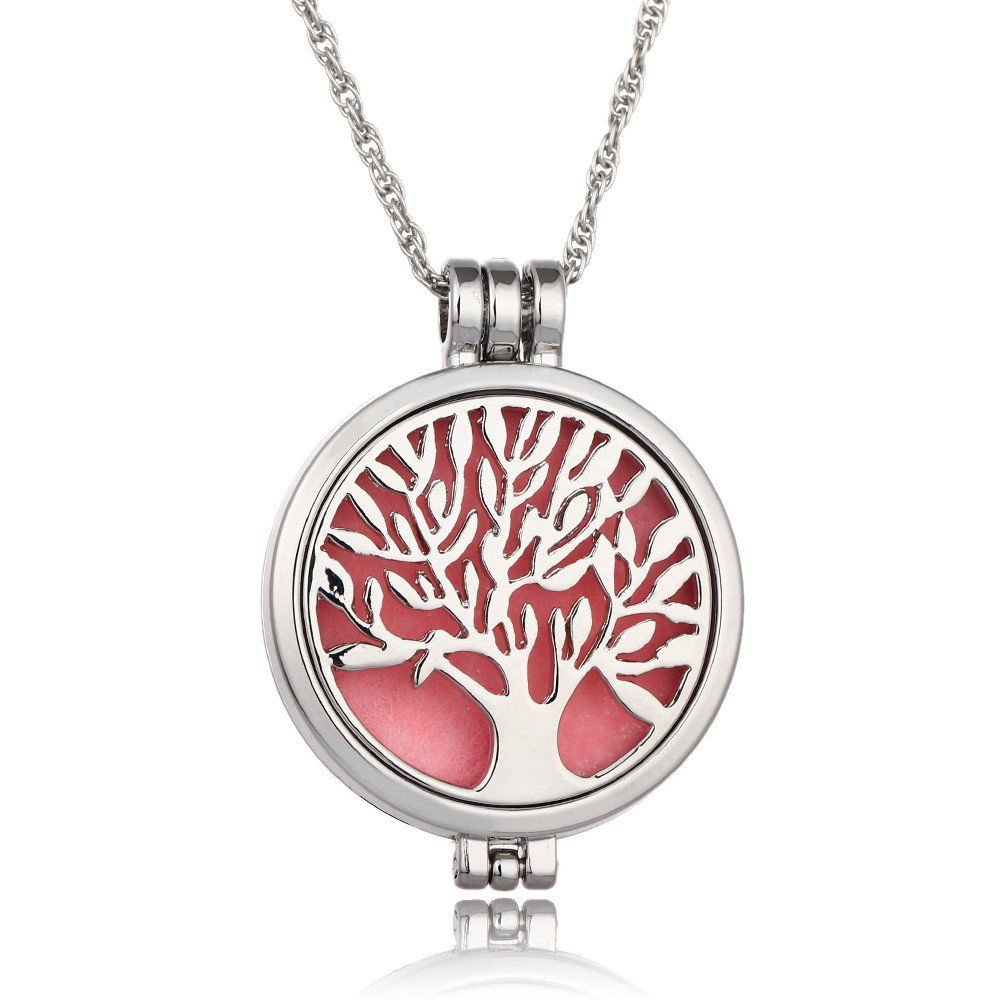 Tree Of Life Aromatherapy Oil Diffuser Necklace