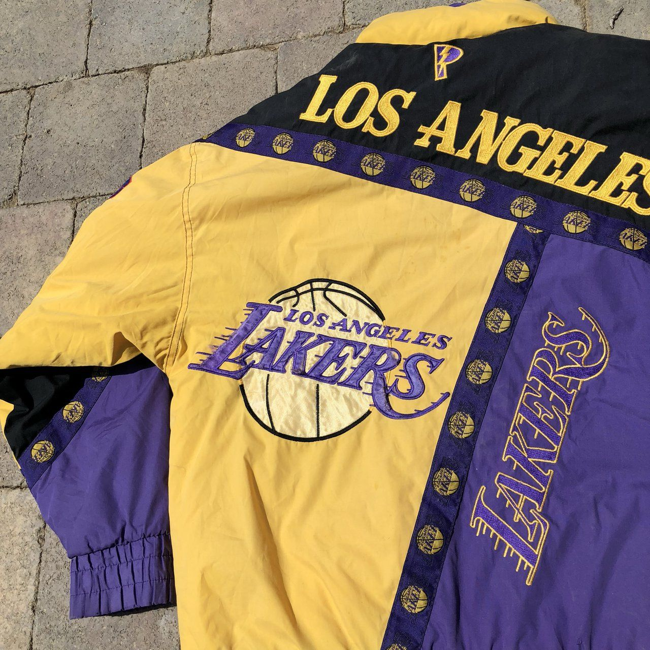 Incredible Vintage La Lakers Jacket By Pro Player The On Is Depop Lakers Jacket Lakers Outfit Jackets