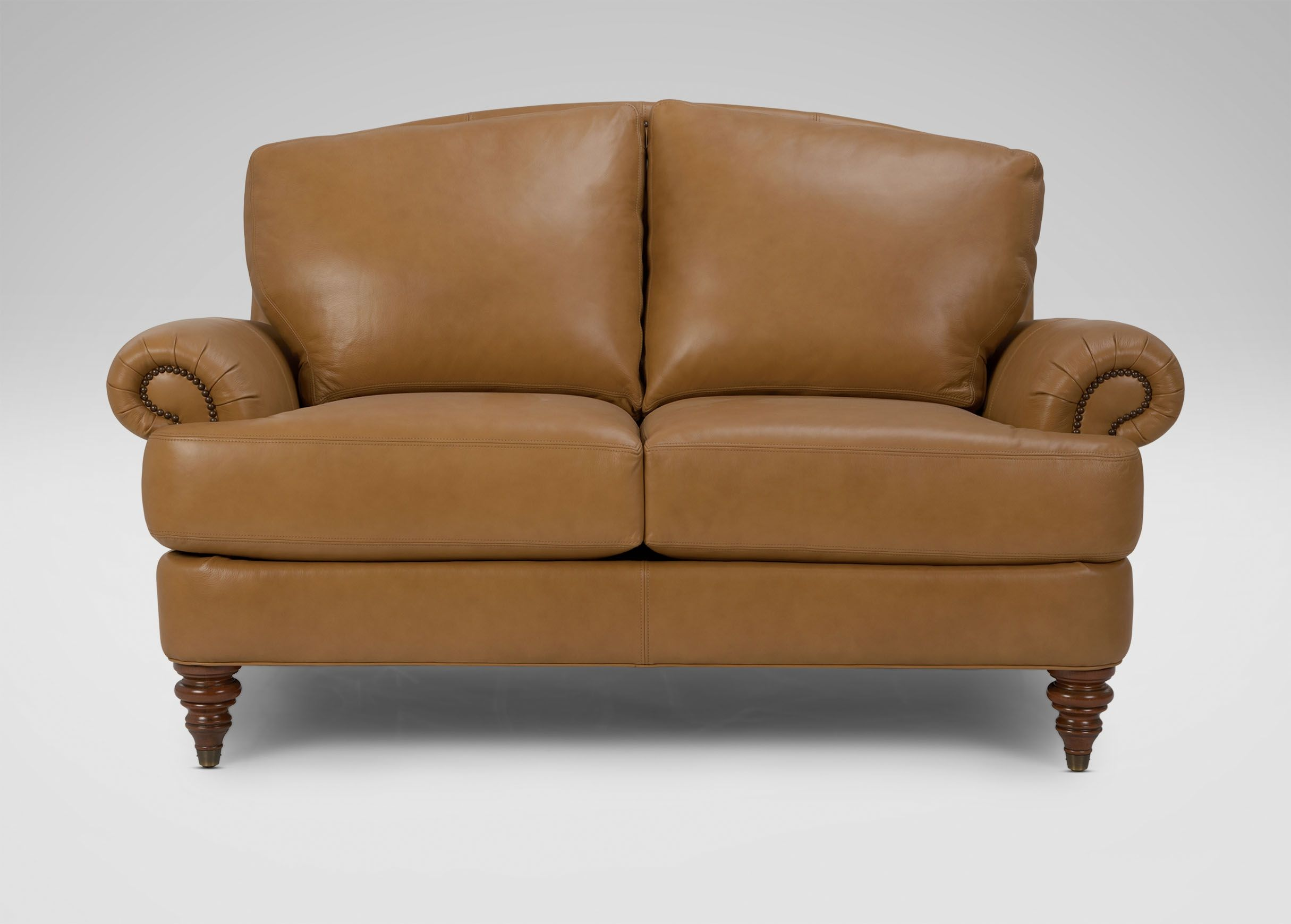Ethan Allen Leather Sofa Loveseat