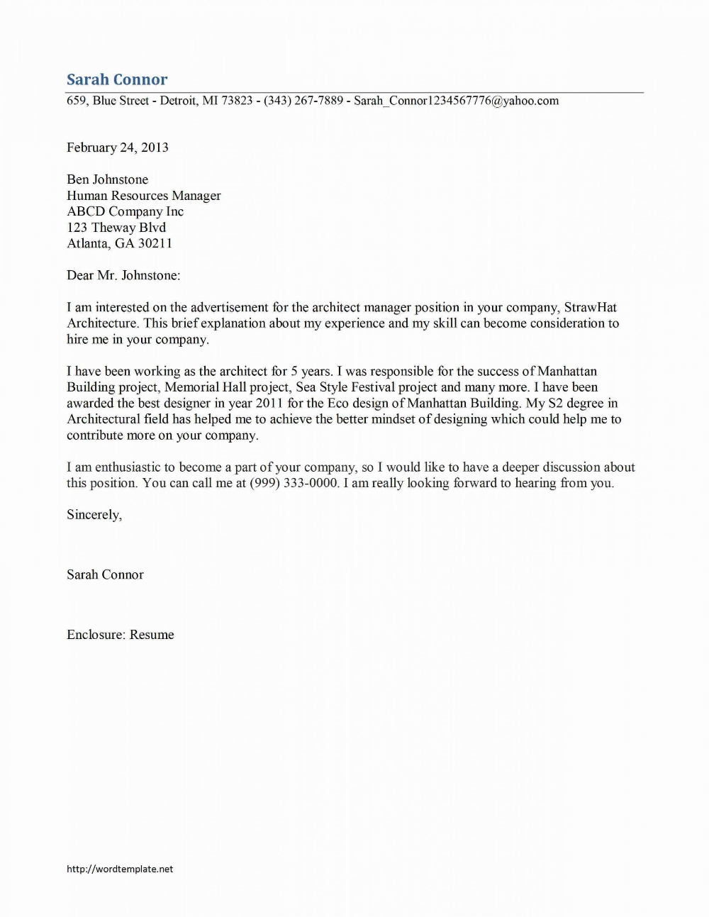 architect cover letter example - Google Search   CV ...