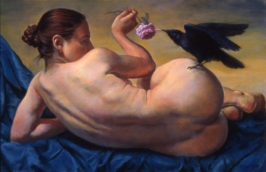 """Young Woman with a Raven""  copyright 2012 Ron Monsma"