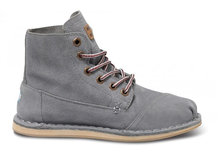 a2b72d2a9e1 Grey Suede Women s Tomboy Boots side TOMS BOOTS! - womens steel toe shoes