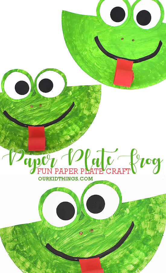 Paper Plate Frog Craft | Our Kid Things