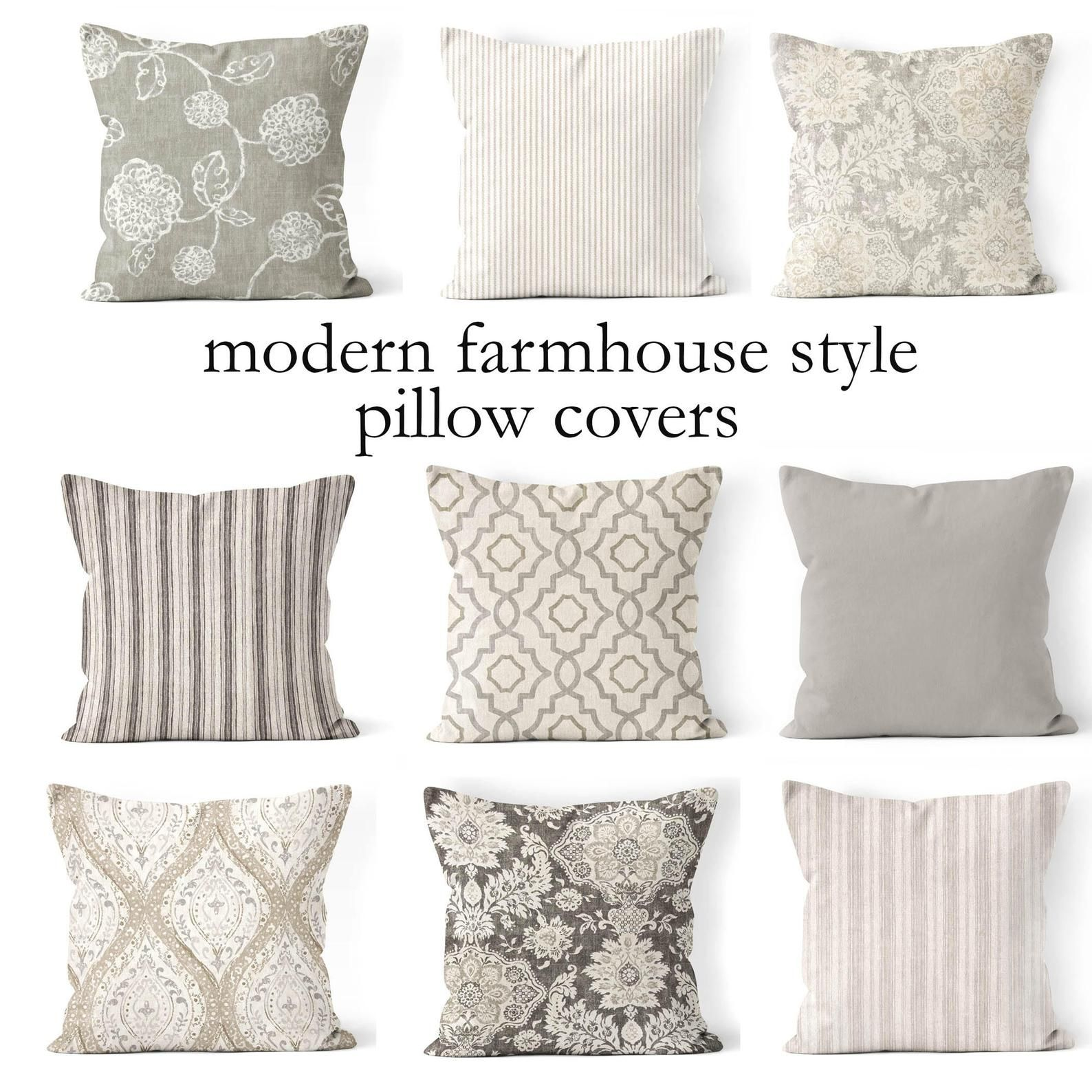 Throw Pillow Coversmix And Match Farmhouse Pillow Cover Etsy In 2020 Small Throw Pillows Throw Pillows Living Room Neutral Throw Pillows