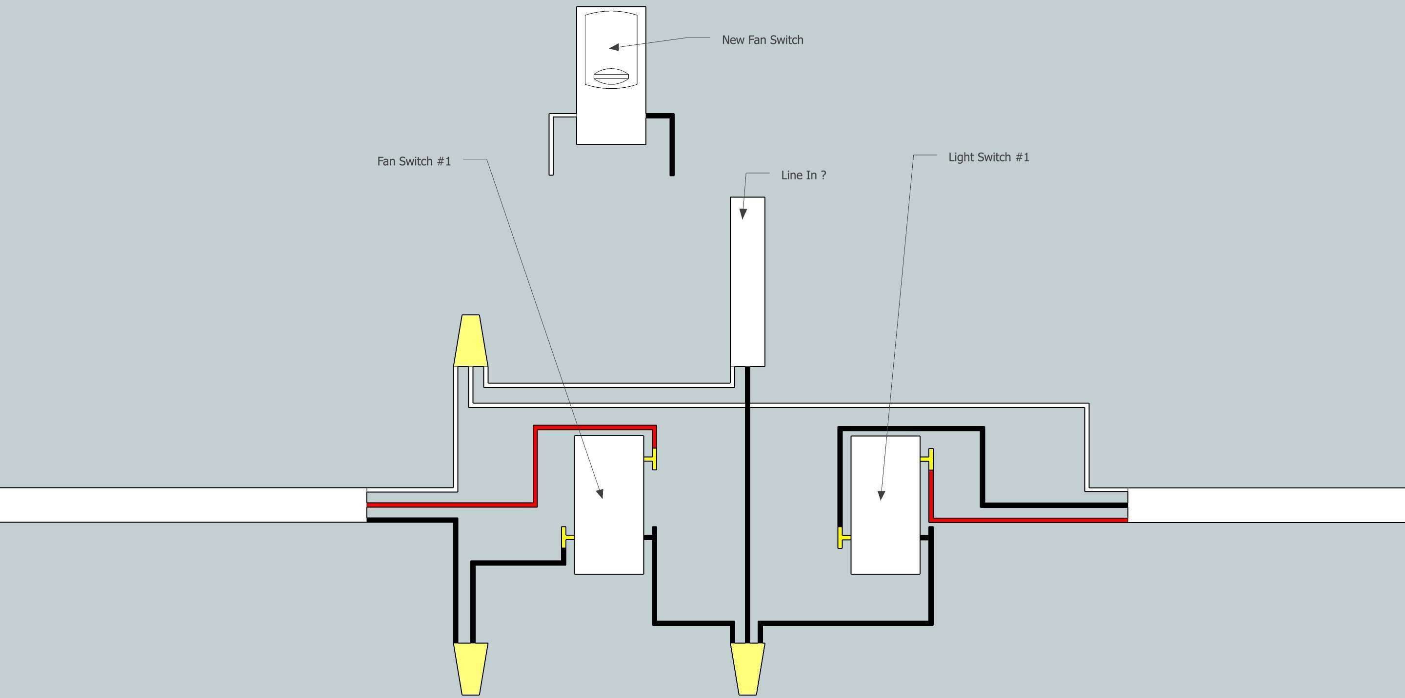 electrical Need help adding fan to existing 3 way switch ... on