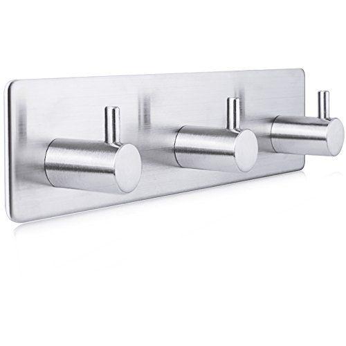 Pat re 3 crochets lavabo salle de bain maison en acier Accessoires salle de bain inox