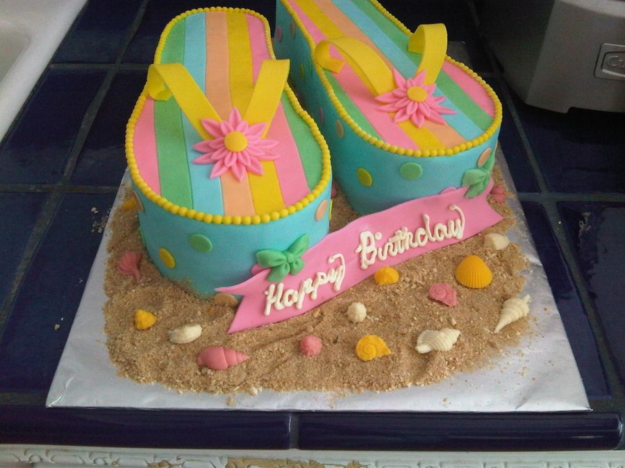 Flip Flops With Images Flip Flop Cakes Flip Flop Birthday