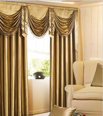 Gold Faux Silk Waterfall Valance Sale Was Valances Swag Curtains