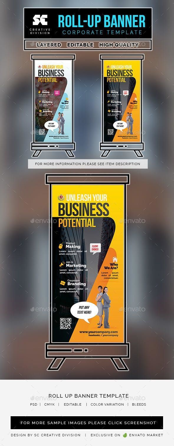 Business Roll Up Banner for $5 #PrintDesign #collections #PrintTemplates #design...