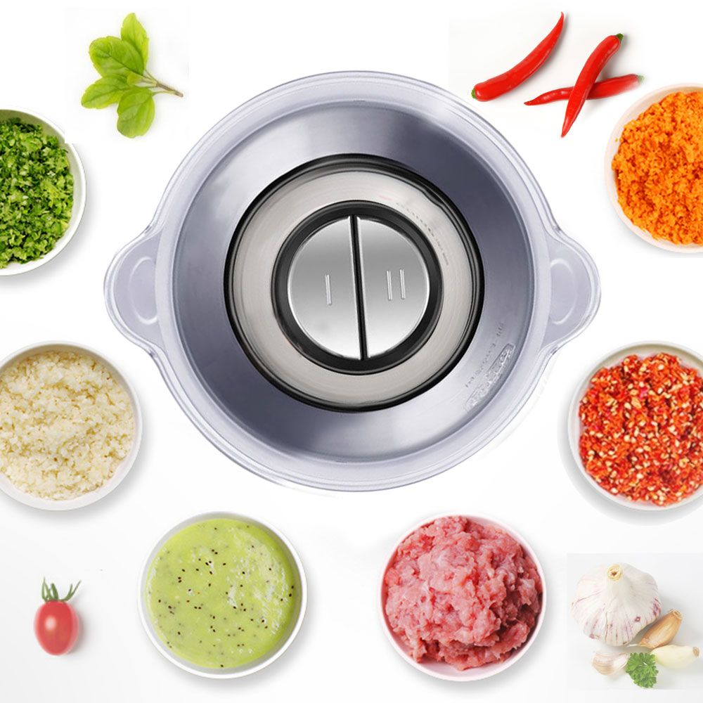Food Processor 3 Speeds 500W Electric Food Chopper with Stainless Steel revers
