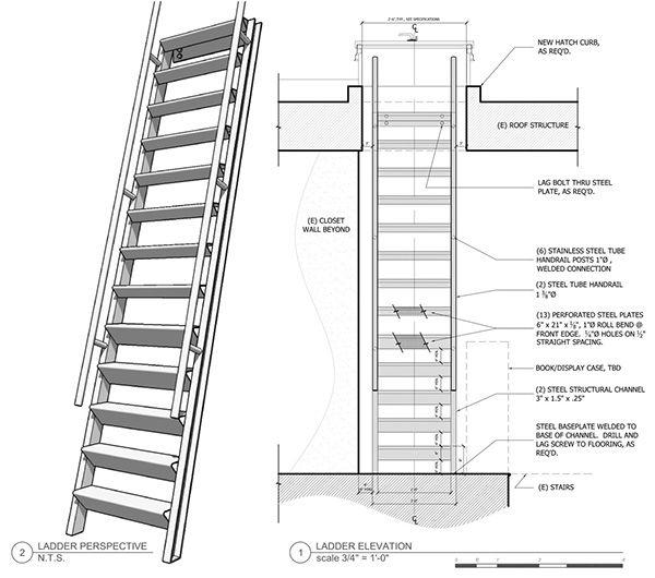 Ship 39 S Ladder On Behance Ship Ladder Ladder Wall Closet