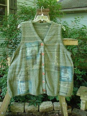 1994 Miracle Vest Forest Branch Nori Green Melange OSFA