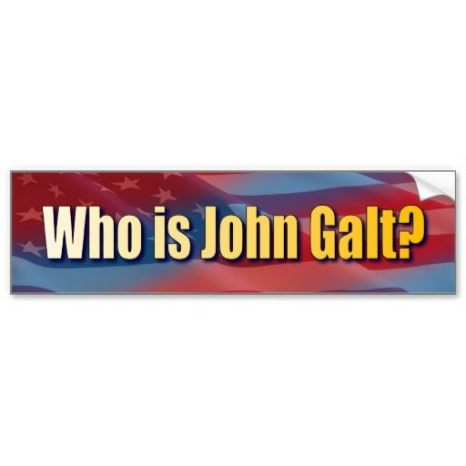 Who is john galt bumper sticker