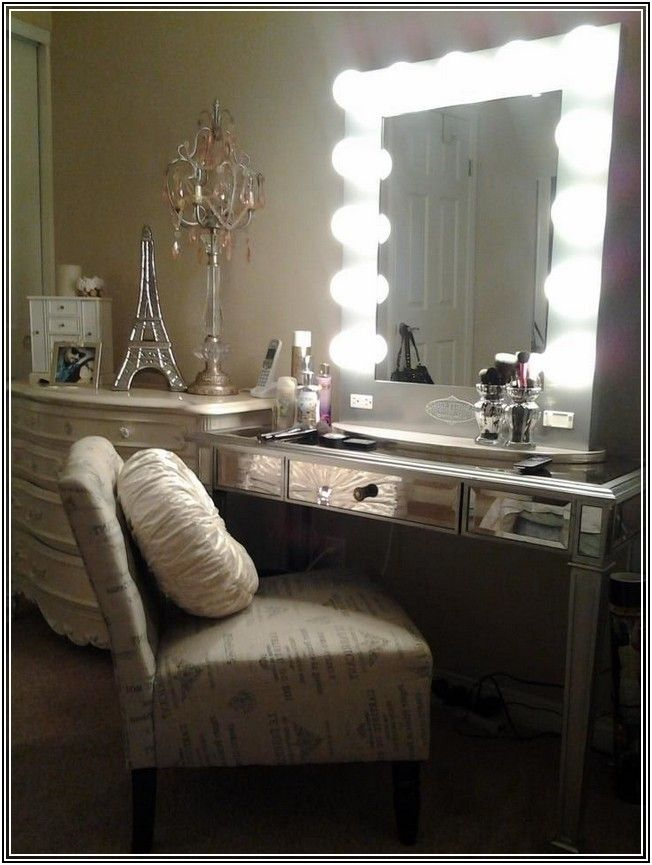 Hollywood Makeup Mirror Ikea With Images Home Decor Mirror