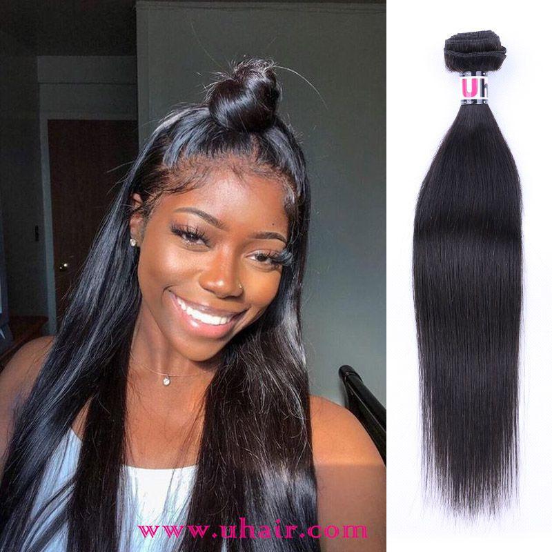 6a Grade Peruvian Virgin Hair Straight 4pcs Pack Natural Black