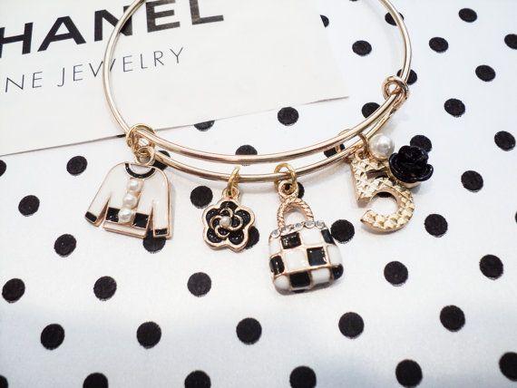 Chanel Inspired Designer Charm Bracelet Jacket Handbag Purse