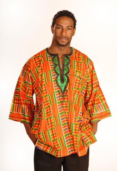 Love this Akan Kente print kaftan! Gorgeous!
