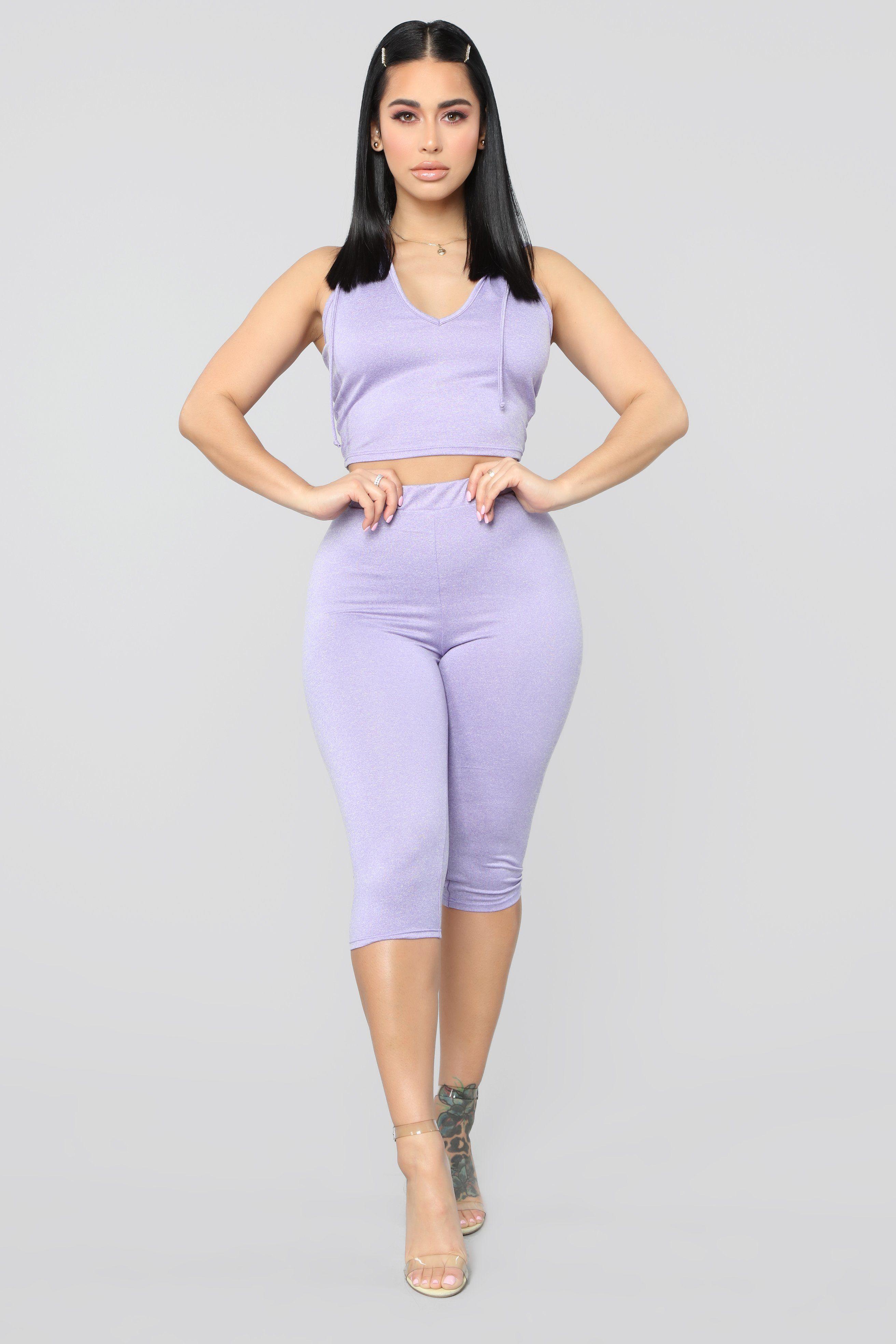 Run Around Town Lounge Set Purple Fashion, Fashion