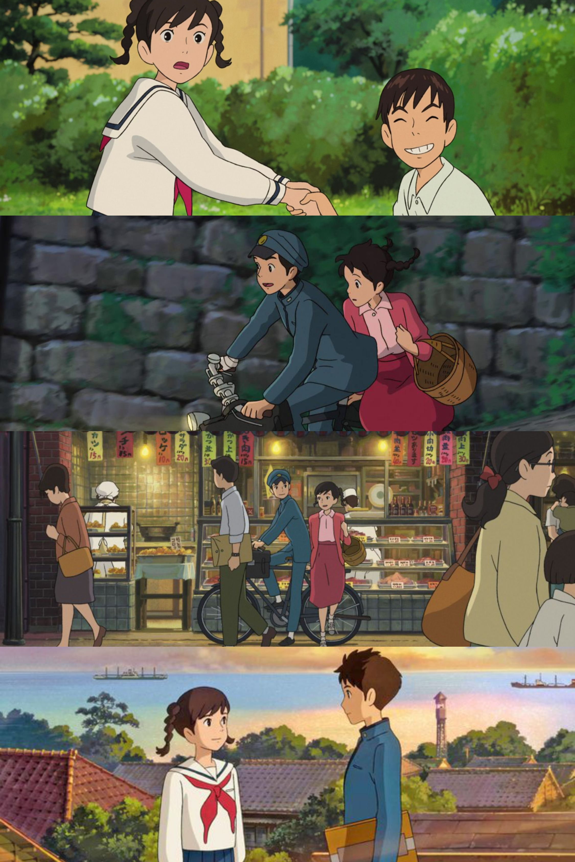 From Up On Poppy Hill Ghibli Umi And Shun Wallpaper La Colline Aux Coquelicots Coquelicot Dessin Illustrations Animees
