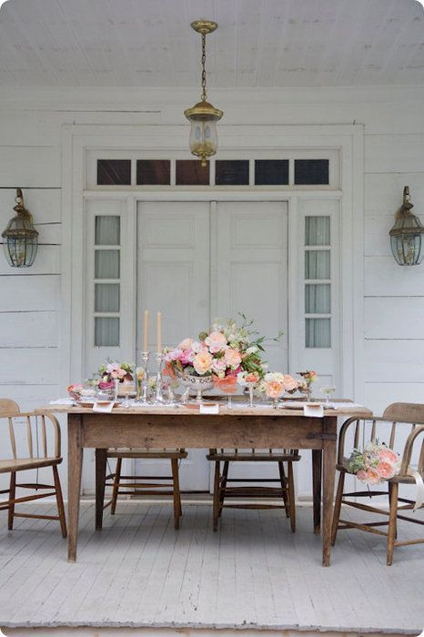 Design*Sponge » Blog Archive » table decoration ideas: peach is the new pink via dwellingsanddecor.tumblr.com