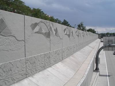 Photo Gallery Site The Concrete Network Decorative Concrete Walls Concrete Forms Noise Barrier