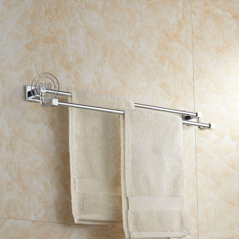 Bath Towel RackBathroom Accessories Products Chrome Towel BarTowel ...