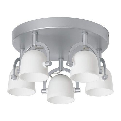 SVIRVEL Loftsbelysning med 5 spots IKEA Det er nemt at pege lyset i forskellige retninger, for de enkelte spot kan indstilles hver for sig.