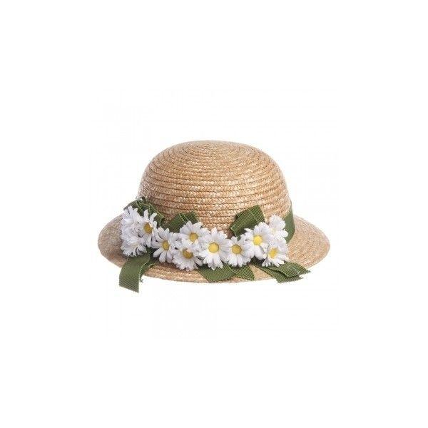Il Trenino Girls Straw Hat With Daisy Flowers Childrensalon Straw Hat Flower Hats Hats